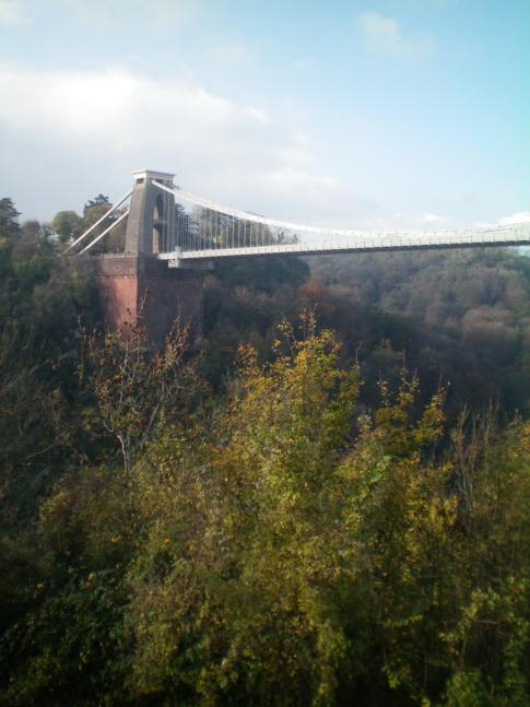 Die Clifton Suspension Bridge vom Sion Hill