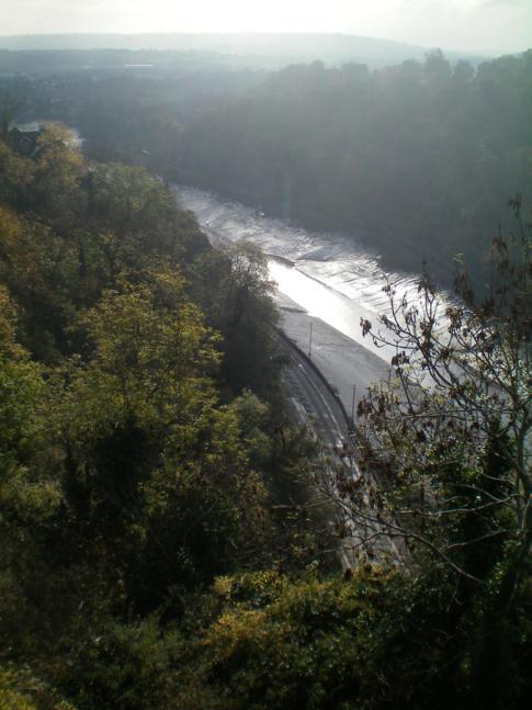 Blick auf den River Avon von der Clifton Suspension Bridge