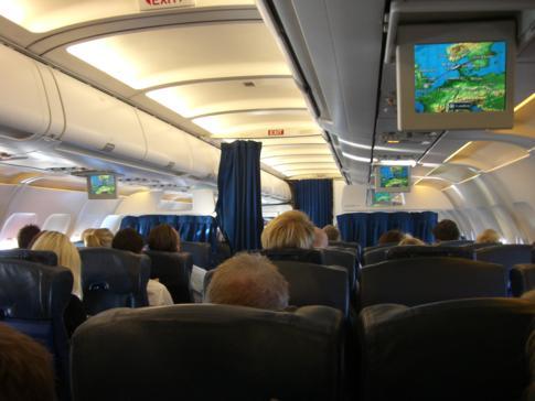 Innenanblick einer Kontinentalmaschine von British Airways