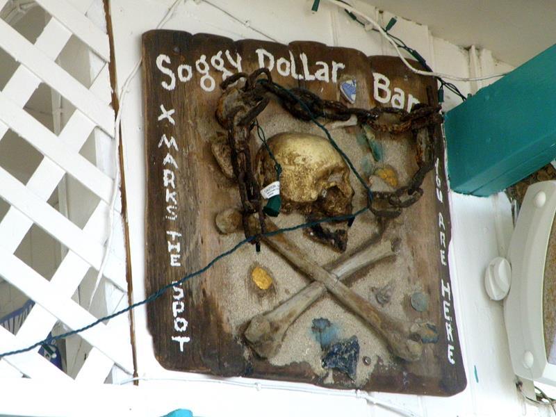 Die berühmte Soggy Dollar Bar auf Jost van Dyke