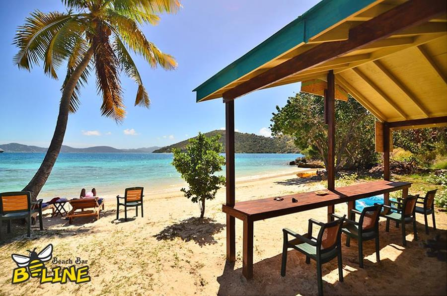 B-Line Beach Bar auf Little Jost van Dyke