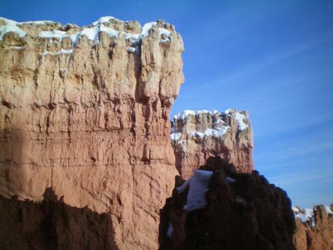 Blick auf die tollen Gesteinsformationen des Bryce Canyon