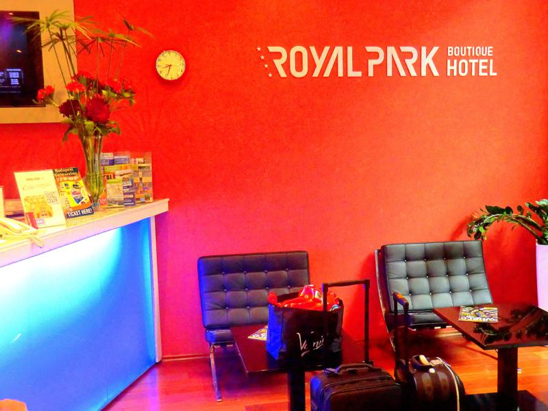 Die Lobby des Royal Park Boutique Hotel in Budapest