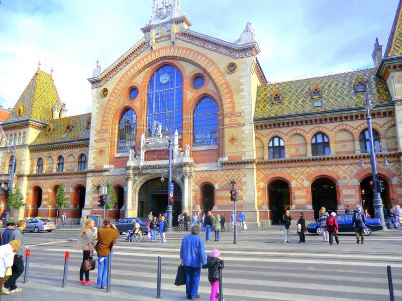 Die zentrale Markthalle von Budapest - Nagy Vasarcsarnok