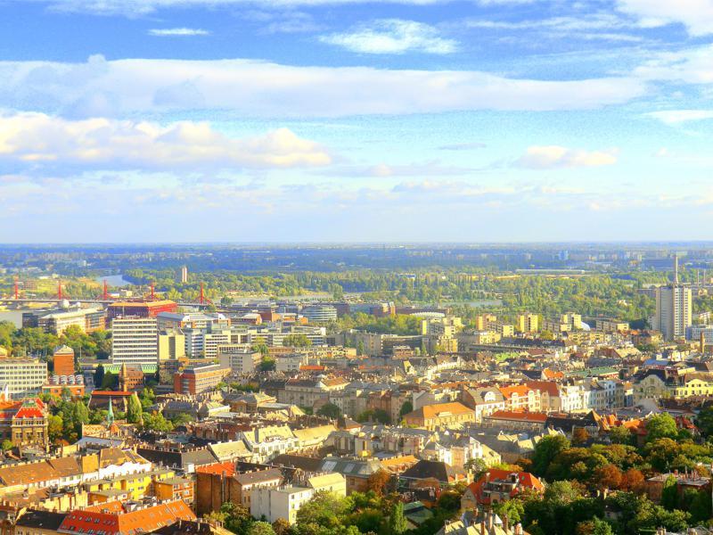 Blick vom Gellertberg auf Budapest