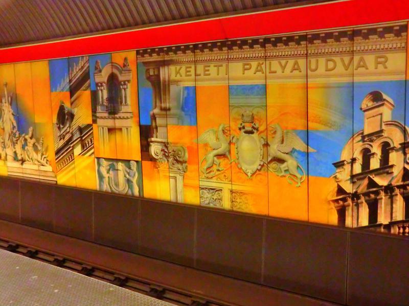 Metrostation des Hauptbahnhofs keleti pu in Budapest