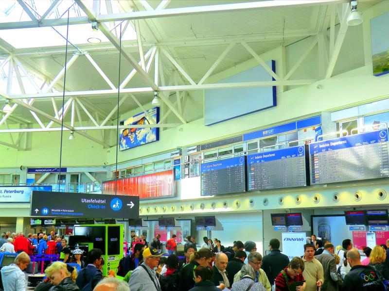 Der Liszt Ferenc Flughafen in Budapest - Terminal 2