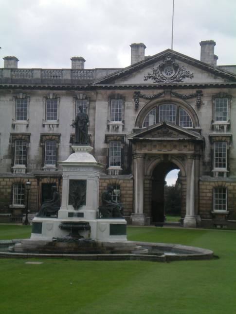 Innenansicht des Kings College in Cambrige, hier das Gibbs Building