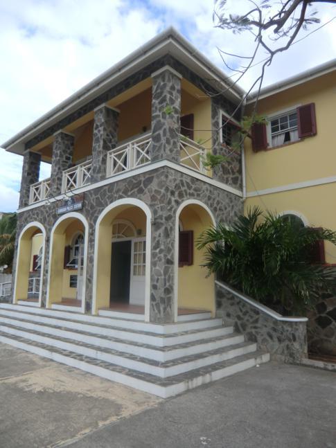 Die Polizeistation, das vielleicht modernste öffentliche Gebäude auf Canouan