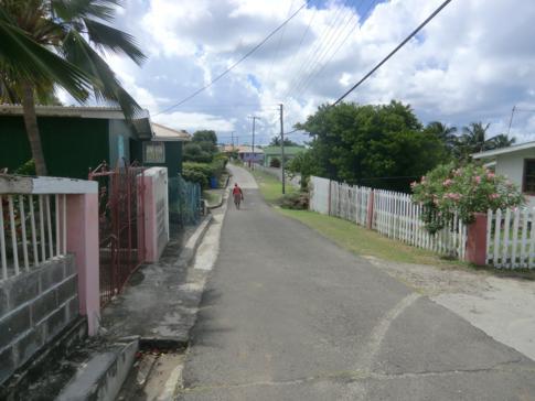 Die Hauptstraße von Petit Martinique
