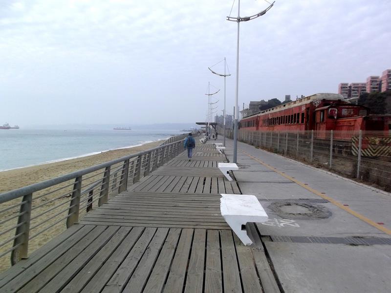 Die Strandpromenada von Valparaiso an der Pazifikküste von Chile