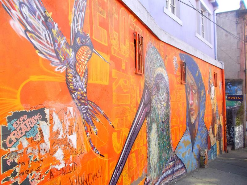 Tolle Kunstwerke in Valparaiso - vielleicht die Street-Art Hauptstadt auf der Welt