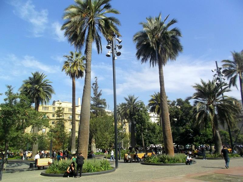 Die Plaza de Armas in Santiago de Chile