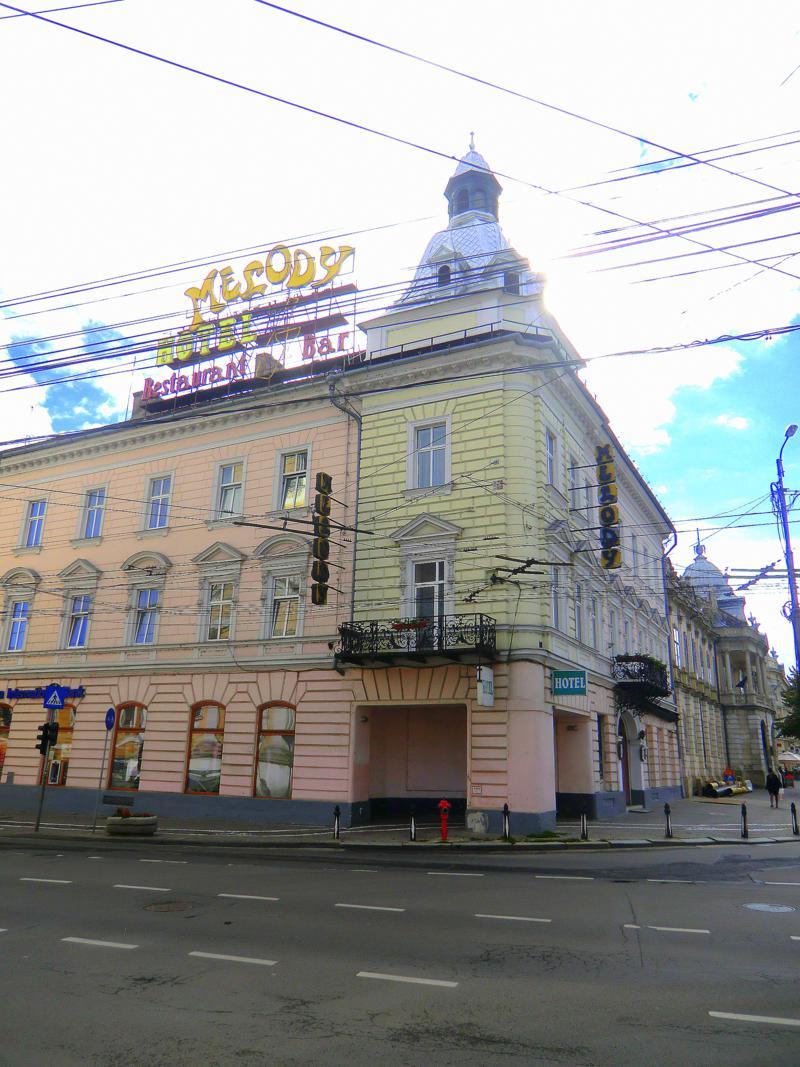 Das Hotel Melody Central in der Altstadt von Cluj-Napoca