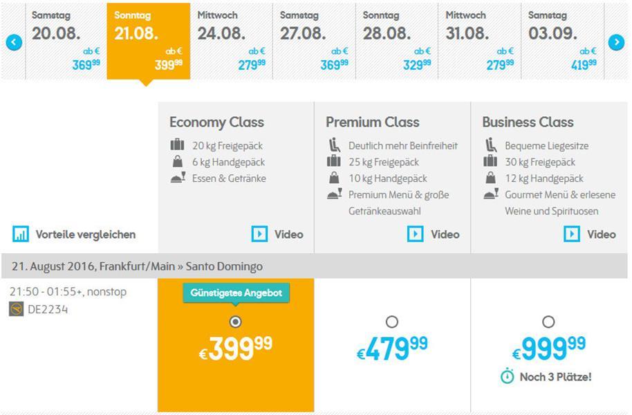 Flugbericht Condor III – in der Premium Economy Class von Frankfurt nach Santo Domingo