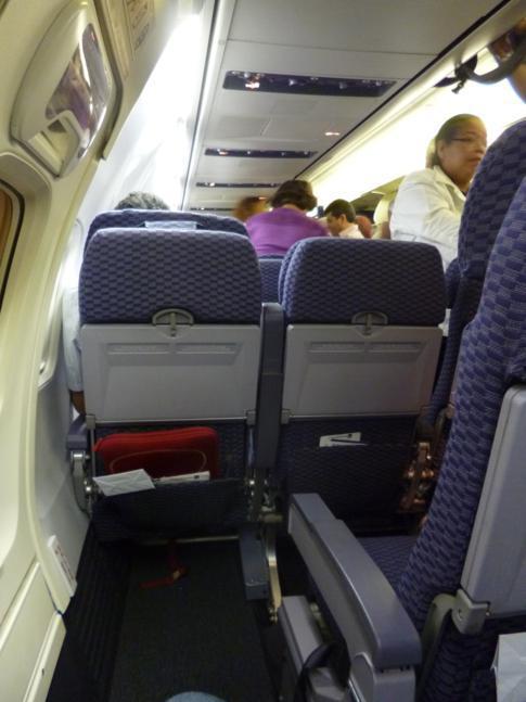 Sitzabstand am Notausgang beim Flug mit Copa Airlines von Port of Spain nach Panama City