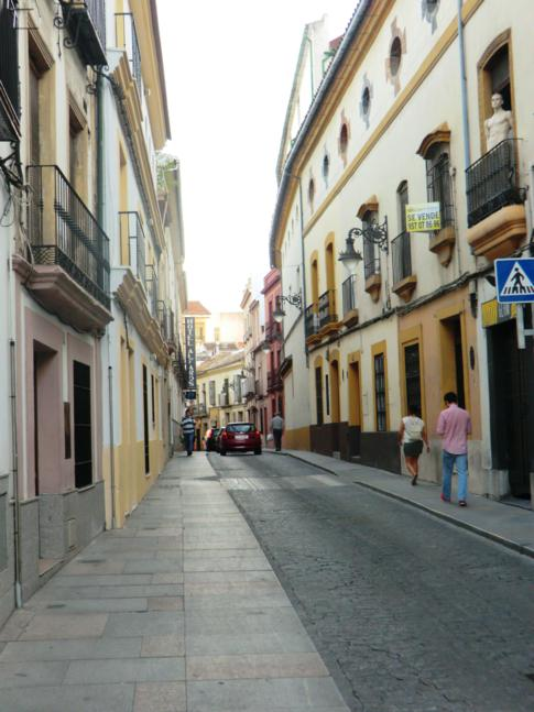 Fußgängerzonen und enge Gassen in Cordobas Innenstadt