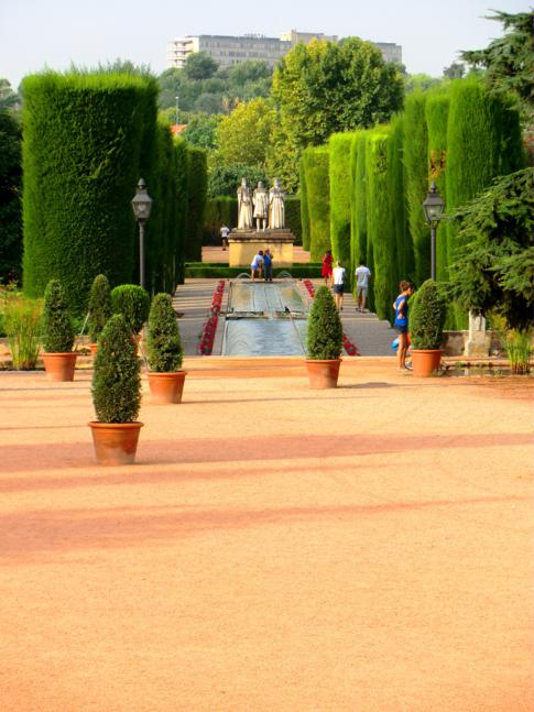 Wunderschöne Gärten im Alcazar de los Reyes Christianos