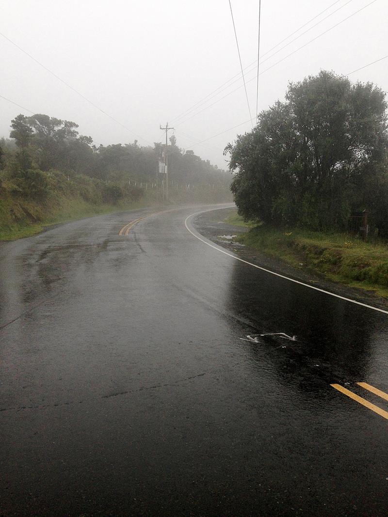 Die gut ausgebaute Straße von Cartago zum Irazu-Vulkan