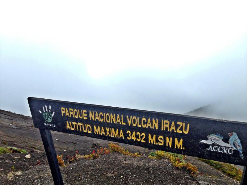 Der höchste Vulkan von Costa Rica, der Irazu