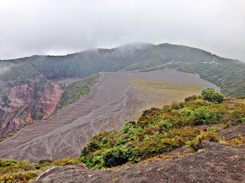 Blick auf den Vulkan Irazu in Cota Rica