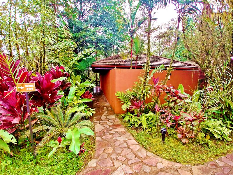 Die Bungalows im Rio Celeste Hideaway Hotel im Tenorio National Park