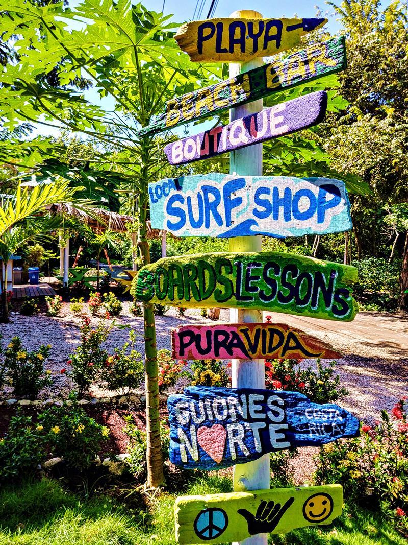 Der kleine Surfer-Ort Nosara auf der Nicoya-Halbinsel