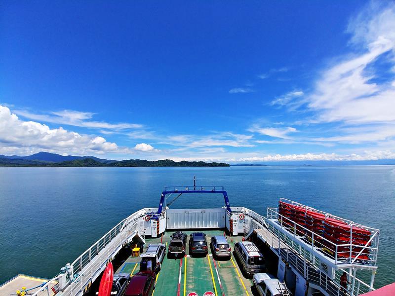 Die Fährüberfahrt von Paqueras nach Puntarenas in Costa Rica
