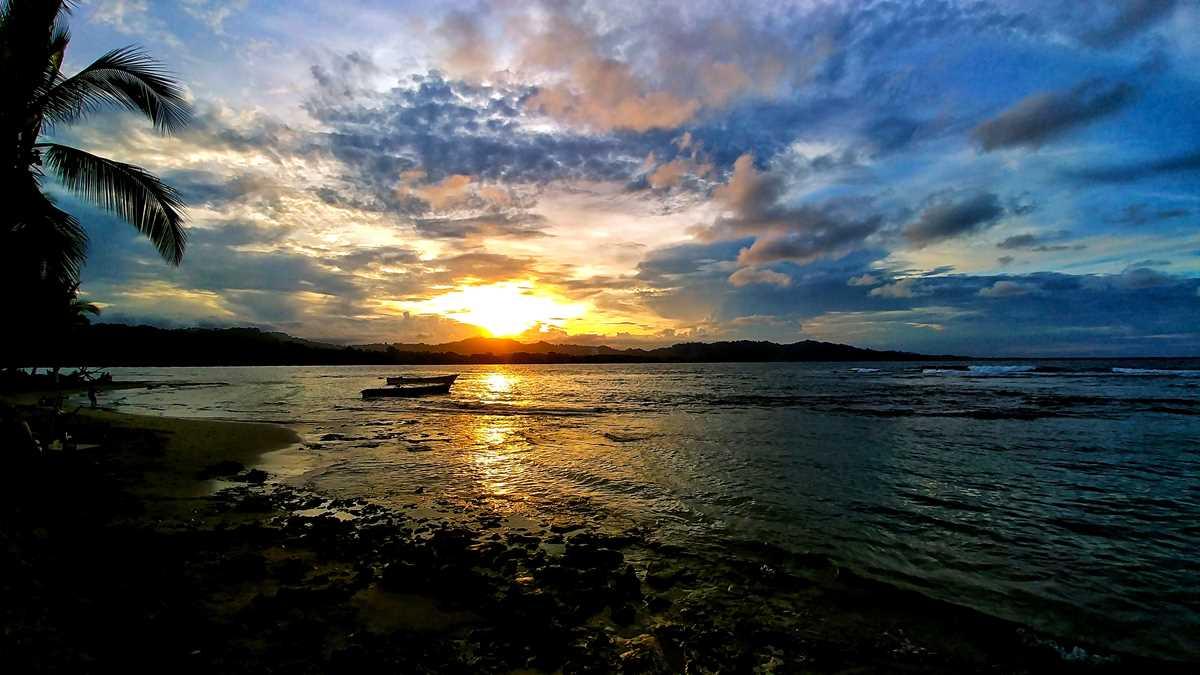 Sonnenuntergang in Puerto Viejo