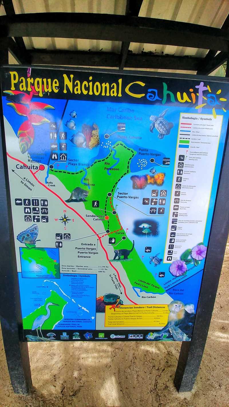 Der Cahuita Nationalpark an der Karibik-Küste von Costa Rica