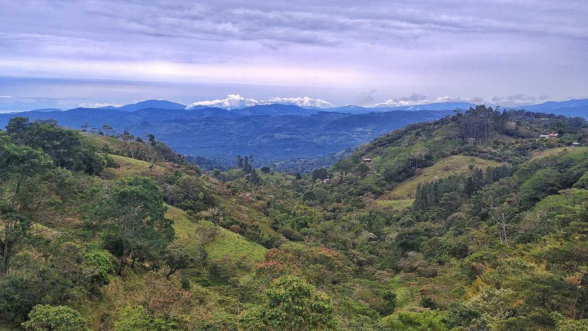Die Berge im Hochland von Costa Rica bei Turrialba