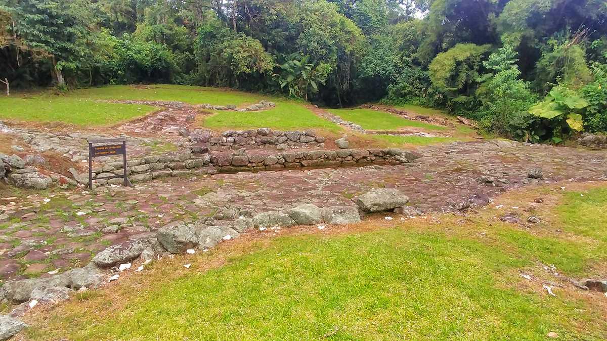 Das Monumento Nacional Guayabo in der Nähe von Turrialba, eine bedeutende Ausgrabungsstätte in Costa Rica