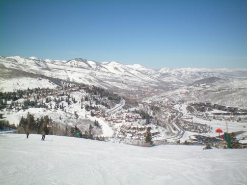 Ausblick von Deer Hollow über diesen in Sachen Service vielleicht beste Skigebiet der USA