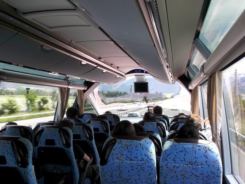 Auf der Fahrt mit MeinFernbus von München nach Chur