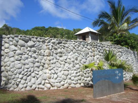 Die Einfahrt zum Pagua Bay House an der Ostküste von Dominica
