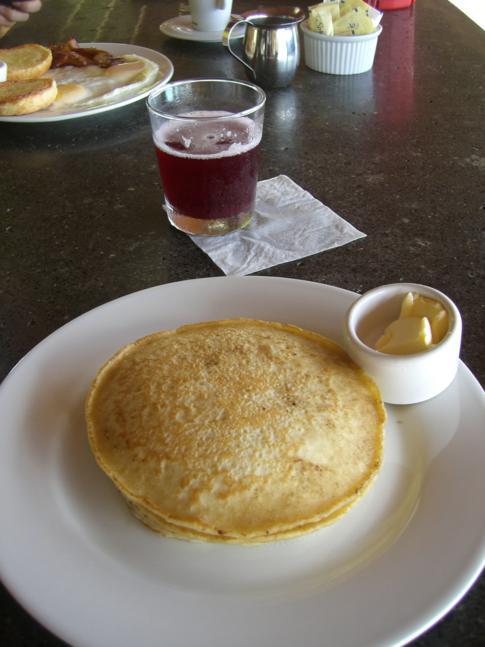 Frühstück im Pagua Bay House, Marigot, Dominica