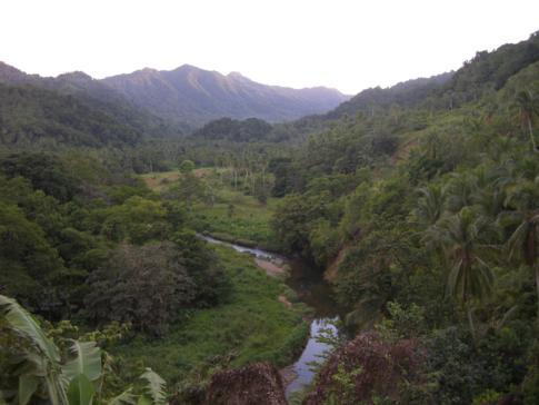 Traumhafter Blick in das Pagua Valley von Dominica