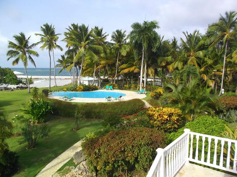 Das Hotel Villa Serena in Las Galeras auf der Samana-Halbinsel
