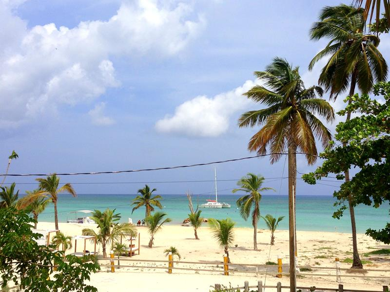 Ausblick von den Taka Beach Rooms in Bavaro/Punta Cana