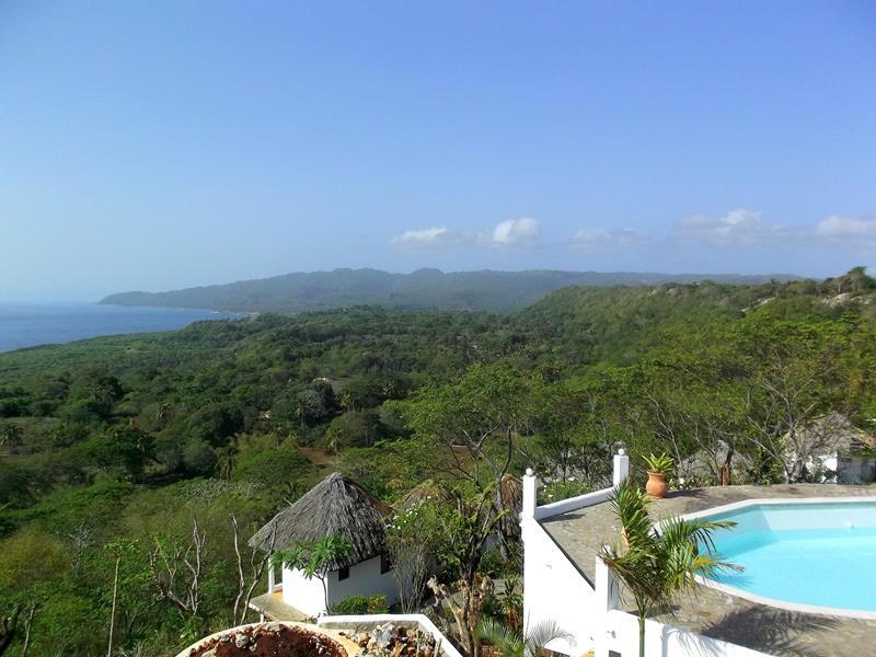 Ausblick von der Samana Ocean View Eco-Lodge bei Las Galeras