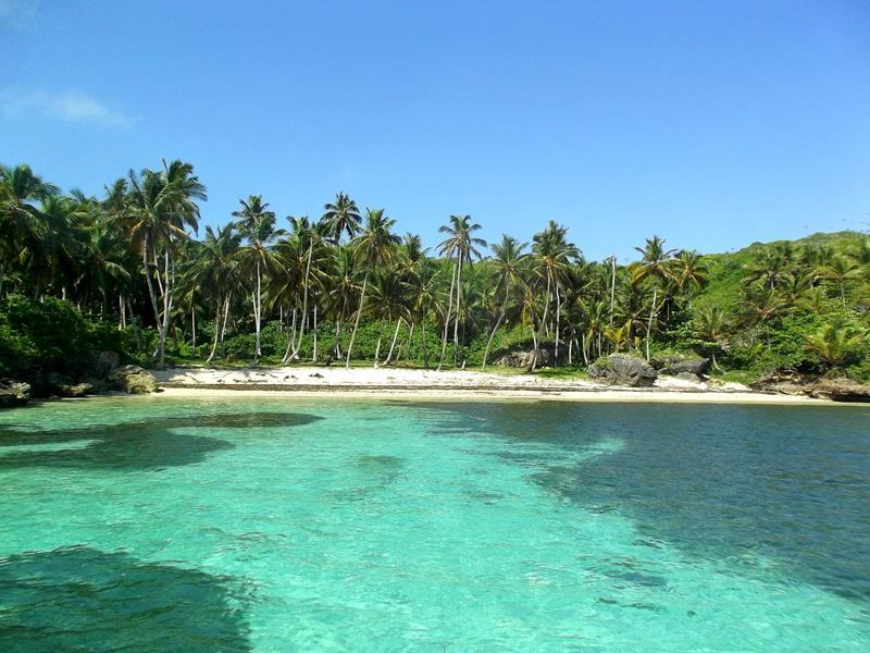 Der versteckte Playa Madame zwischen Las Galeras und Playa Fronton