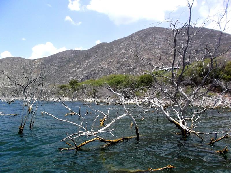 Der Lago Enriquillo unterhalb des Meeresspiegels