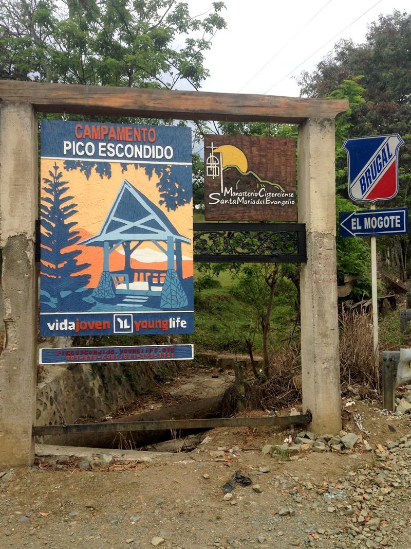 Der Startpunkt der Wanderung zum Mogote in der Cordillera Central