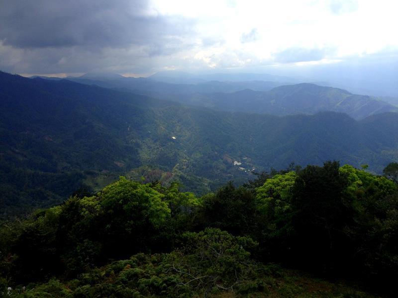 Blick in Richtung Pico Duarte und die Cordillera Central