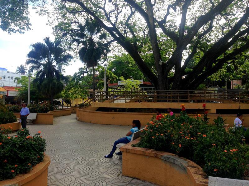 Das Ortszentrum von Jarabacoa