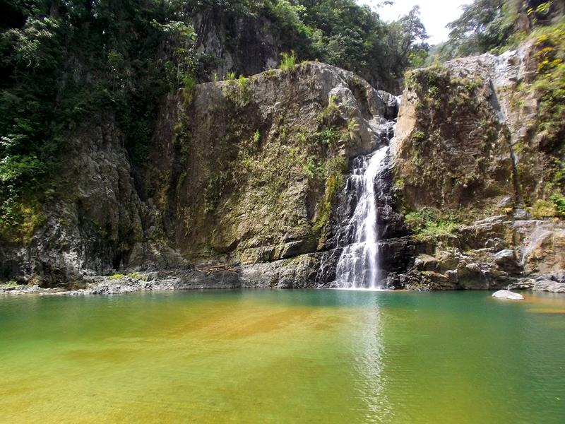 Der Wasserfall Salto Jimenoa II in Jarabacoa