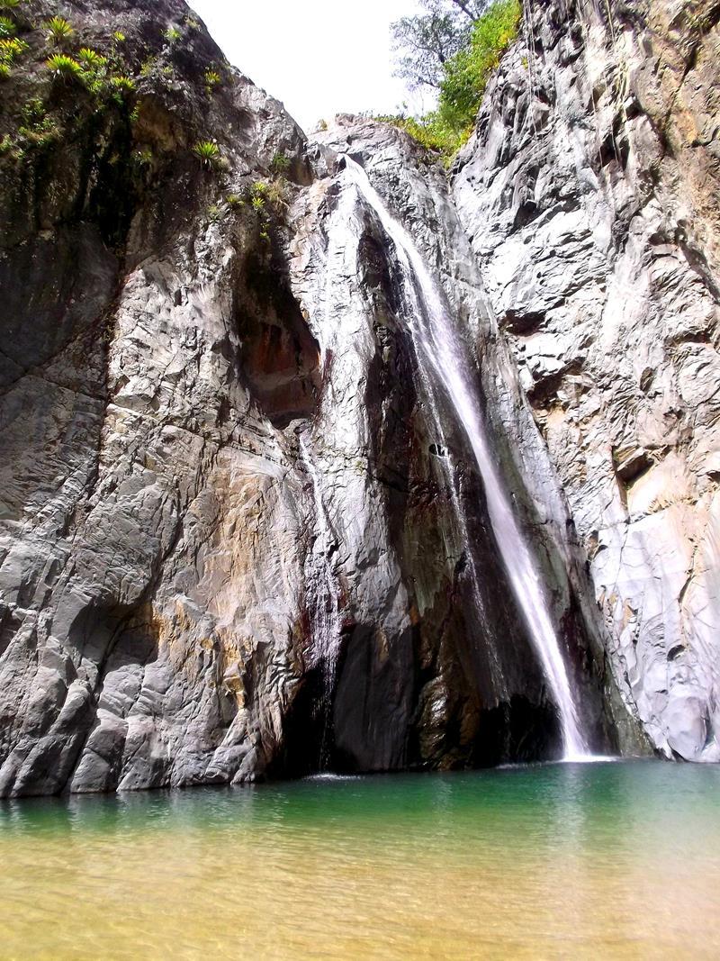 Der Wasserfall Salto Jimenoa I in Jarabacoa