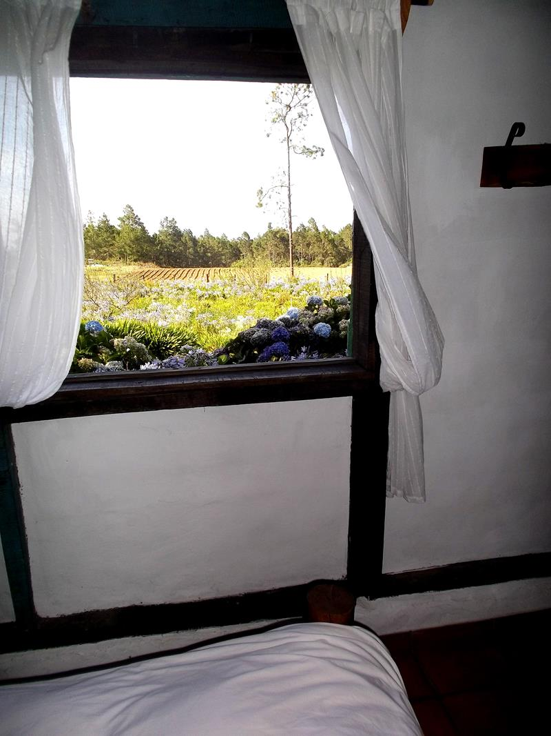 Die urig gemütlichen Bungalows der Villa Pajon im Parque Nacional Valle Nuevo