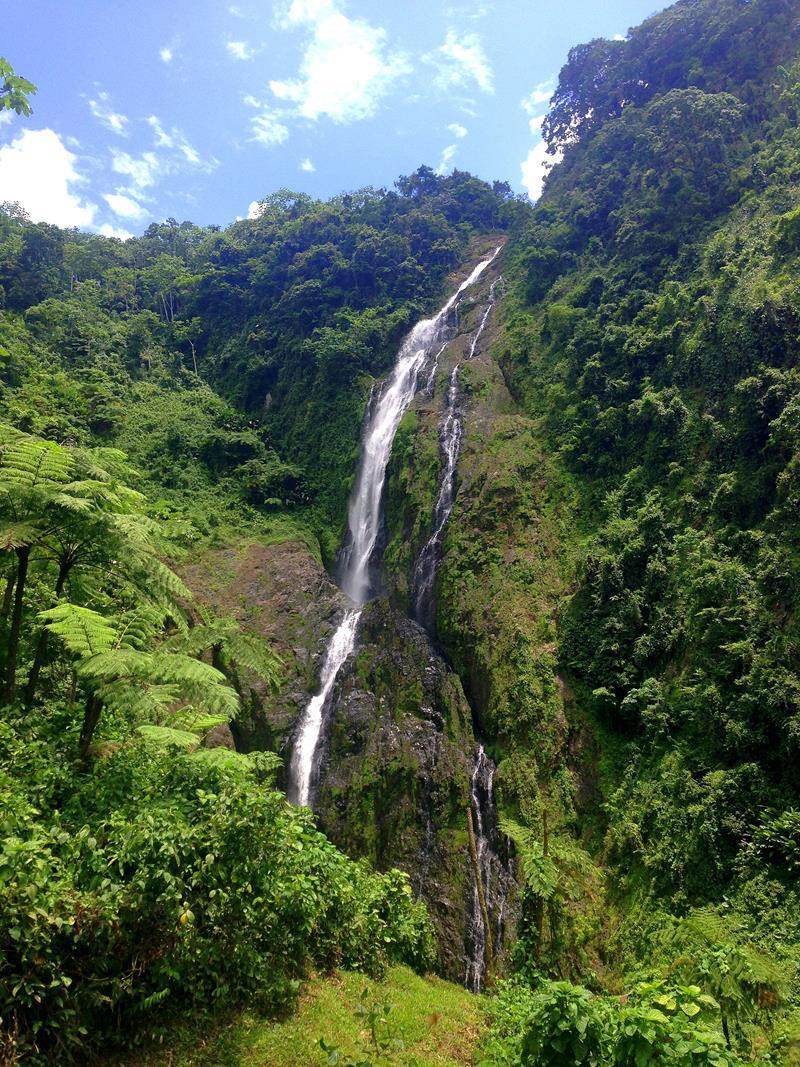 Der höchste Wasserfall der Dominikanischen Republik und der Karibik, der Salto de la Jalda