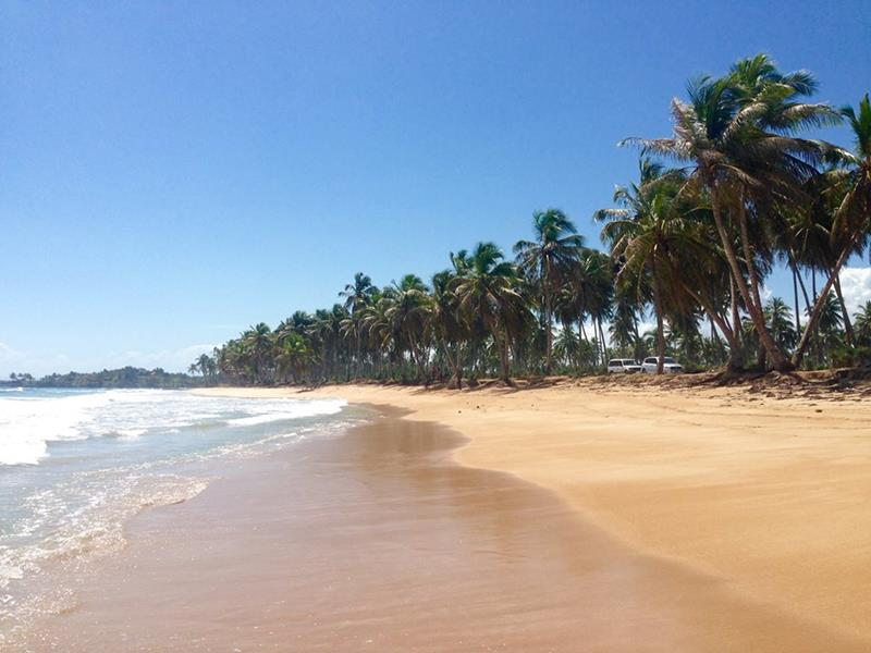 Der Strand von Arroyo Salado an der Nordküste der Dominikanischen Republik